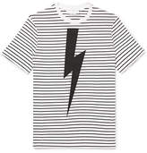Neil Barrett Printed Striped Cotton T-Shirt