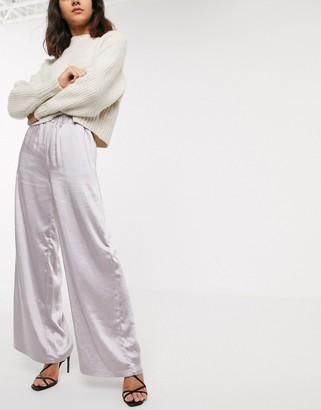 Dr. Denim wide leg satin pants