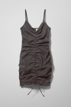 Weekday Leona Denim Dress - Black