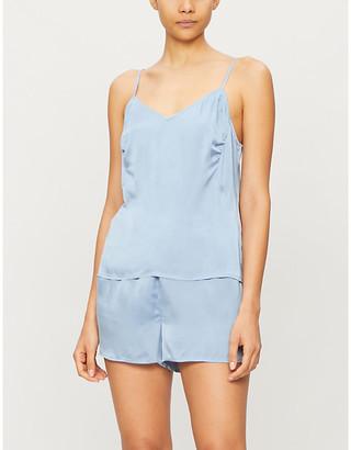 Selfridges Trista silk-blend satin pyjama bottoms