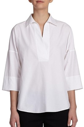 Akris Punto Elements Cotton Kimono Blouse
