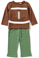 Starting Out Baby Boys 12-24 Months Football-Appliqued Top and Printed Pull-On Pants Set