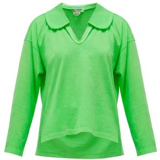 Comme des Garçons Comme des Garçons Peter Pan-collar Long-sleeved Cotton T-shirt - Green