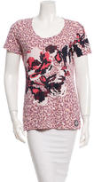 Tory Burch Floral & Leopard Printed Top