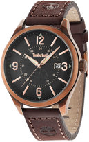 Timberland Men's Blake Brown Leather Strap Watch 46x54mm TBL14645JSQR02