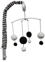 Bacati Dots/Pin Stripes Musical Mobile Color: Black/White