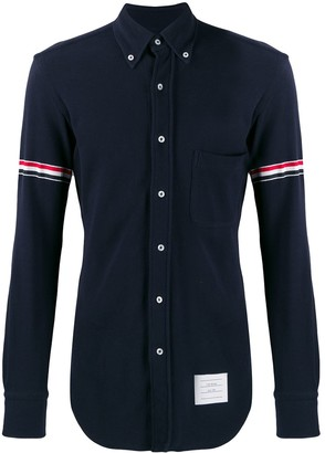 Thom Browne Long Sleeve Button Down Shirt