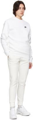Nike White Fleece Sportswear Club Lounge Pants