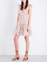 Zimmermann Meridian striped cotton dress