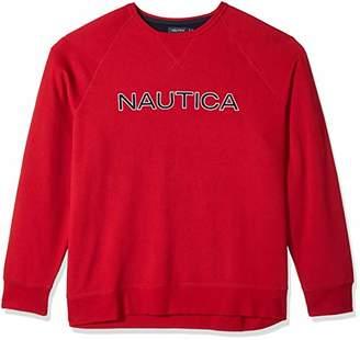 Nautica Men's Big and Tall Crew Neck Graphic Fleece Sweatshirt