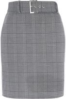 Jane Norman Grey Check Mini Skirt