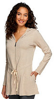 As Is Lisa Rinna Collection A-Line Zip Down Hooded Tunic