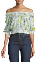 Cinq à Sept Heidi Off-the-Shoulder Floral Smocked Top