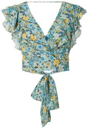 Clube Bossa Lumi printed crop blouse