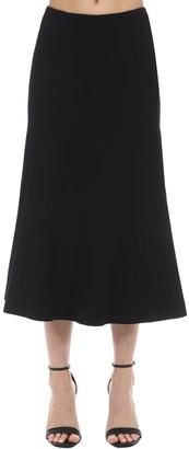 Long Slim Fit Wool Skirt