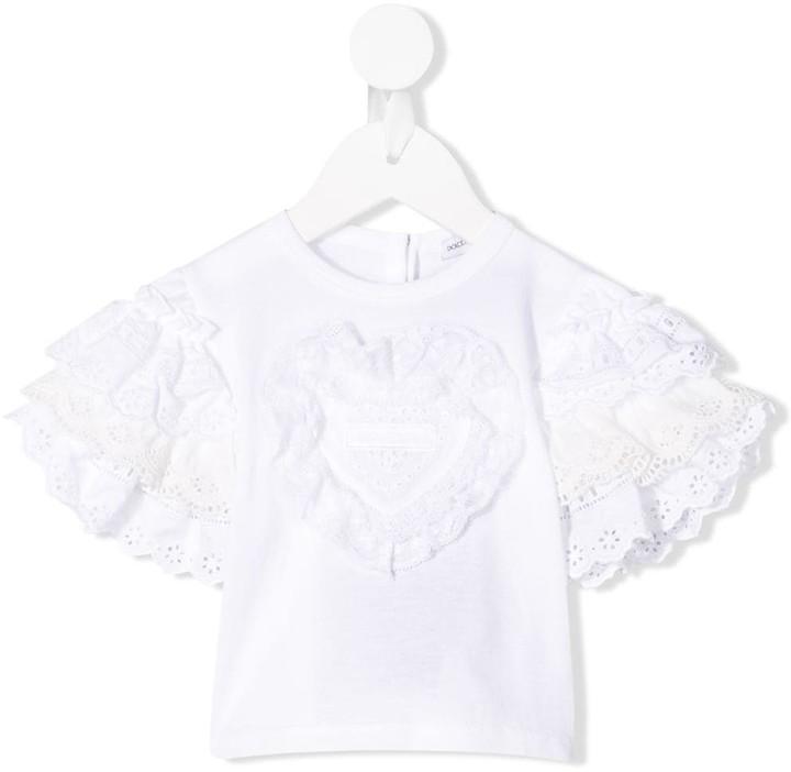Dolce & Gabbana ruffle trim T-shirt
