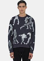 Men's Judo Print Crew Neck Sweater In Navy €280