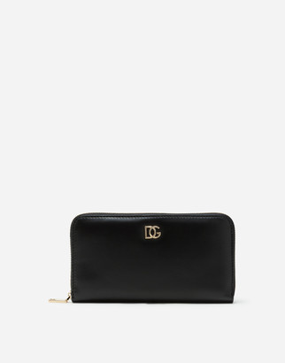 Dolce & Gabbana Calfskin Millennials Zip Around Wallet