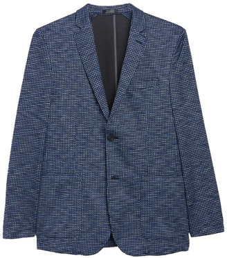 Vince Camuto Houndstooth Two Button Notch Collar Performance Blazer
