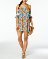 Jessica Simpson Surfside Off-The-Shoulder Cover-Up Dress