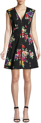 Kate Spade Rare Roses Sleeveless Poplin Dress