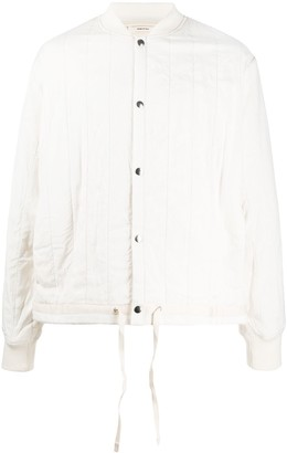 Oamc stitch detail quilted jacket