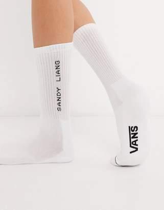 Vans X Sandy Liang crew socks in white