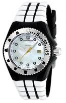 Technomarine Women's Cruise Locker Stainless Steel Quartz Watch with Silicone Strap Black 24 (Model: TM-115221)