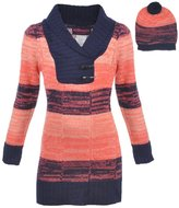 "Dollhouse Big Girls' ""Shawl Contrast"" Sweater Dress with Hat"