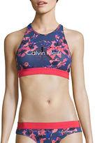 Calvin Klein Crewneck Crisscross-Back Sports Bra