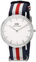 Daniel Wellington Women's Quartz Watch Classic Canterbury Lady 0606DW with Plastic Strap