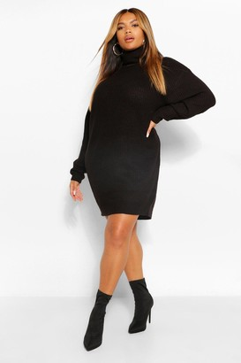 boohoo Plus Roll Neck Jumper Dress