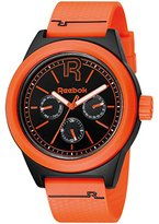 Reebok Classic R Men's Quartz Watch with Black Dial Analogue Display and Orange Silicone Strap RC-CNL-G5-PBPO-BO