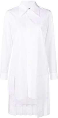 Comme des Garcons Back Pleated Hem Shirt Dress