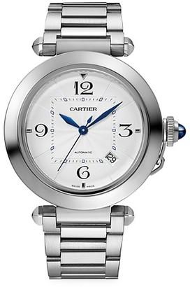 Cartier Pasha de Stainless Steel Bracelet Watch