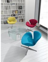ZUO Pori Island Polyfiber Arm Chair in Blue (Set of 2)