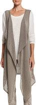 XCVI Stefania Mesh Cascade Vest, Sonoma Pigment, Plus Size