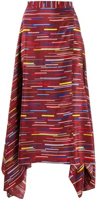 Chinti and Parker Stripe Print Skirt