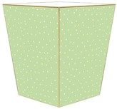 The Well Appointed House Celery Dot Decoupage Wastebasket and Optional Tissue Box