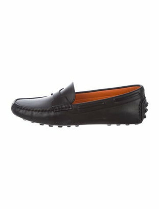 Hermes Leather Loafers Black