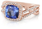 Effy Jewelry Effy Gemma 14K Rose Gold Tanzanite and Diamond Ring, 2.64 TCW