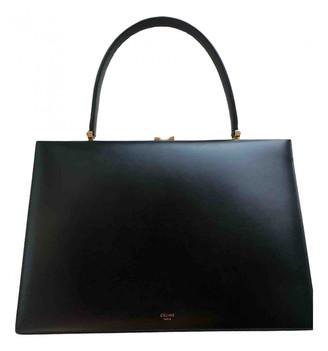 Celine Clasp Black Leather Handbags