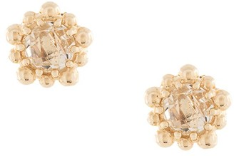 Anzie 14kt yellow gold Micro Dew Drop studs