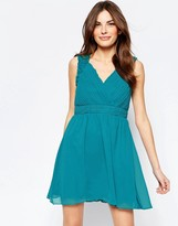 Little Mistress Skater Dress with Cut Out Back