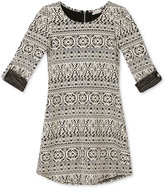 Speechless Jacquard Knit Dress, Big Girls (7-16)
