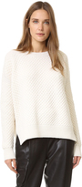 Vince Honeycomb Crew Sweater