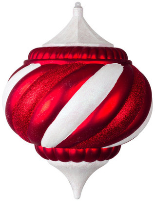 Queens of Christmas 150Mm Onion Ornament Candy Ornament Collection Red And White