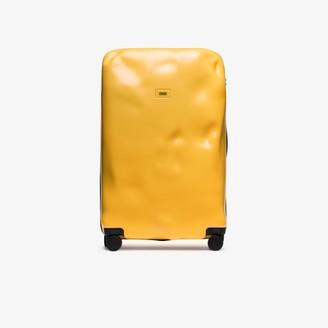 CRASH BAGGAGE Yellow Icon large rolling suitcase
