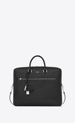 Saint Laurent Sac De Jour Large Briefcase In Grained Leather Black Onesize
