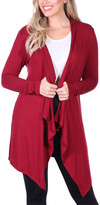 Brooke & Emma Women's Cardigans Burgundy - Burgundy Open Cardigan - Women & Plus